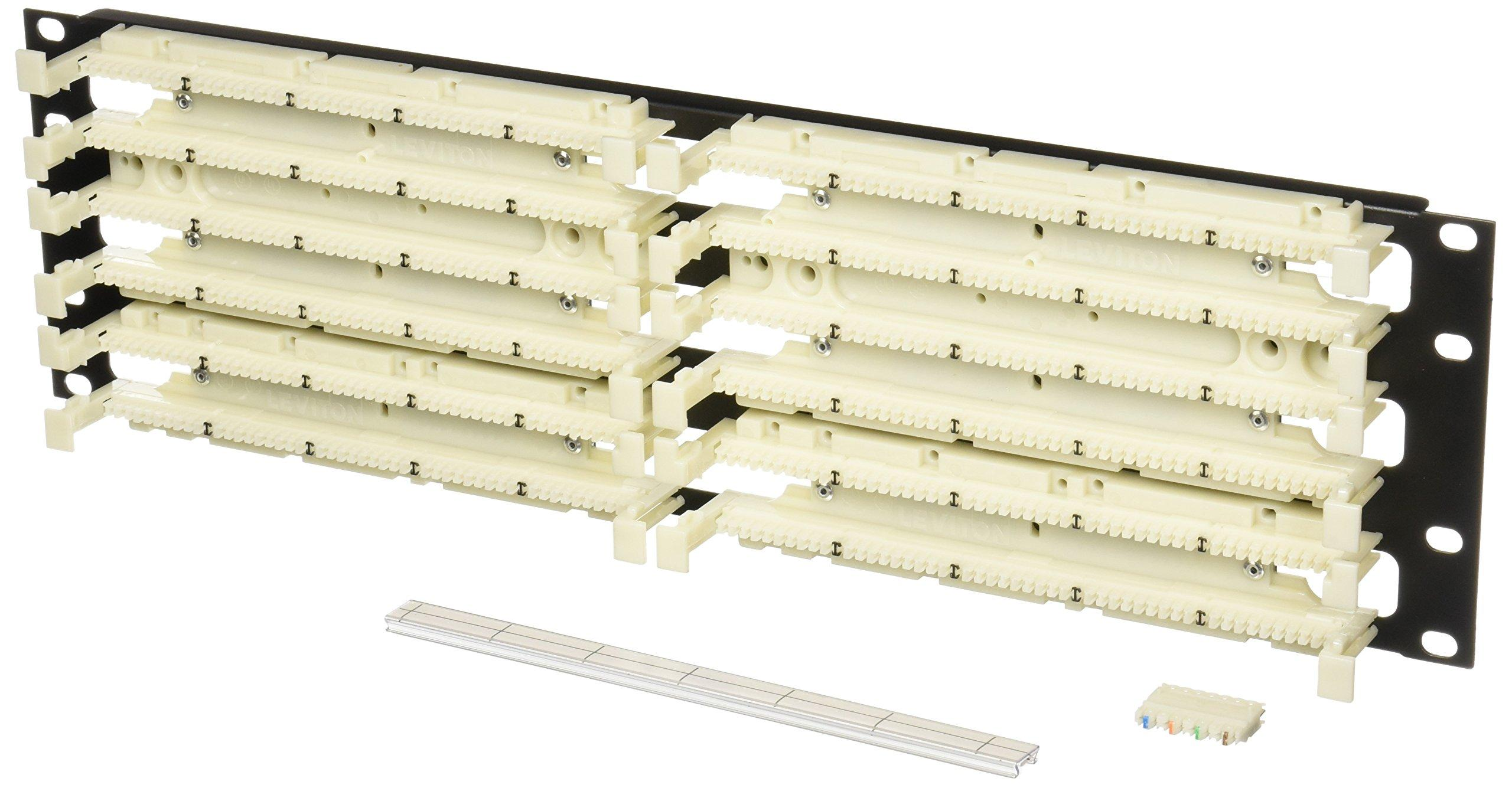 Leviton 41dbr 3f4 Gigamax 5e 110 Style Wiring Block Rack Mount Kit Installation Cat With